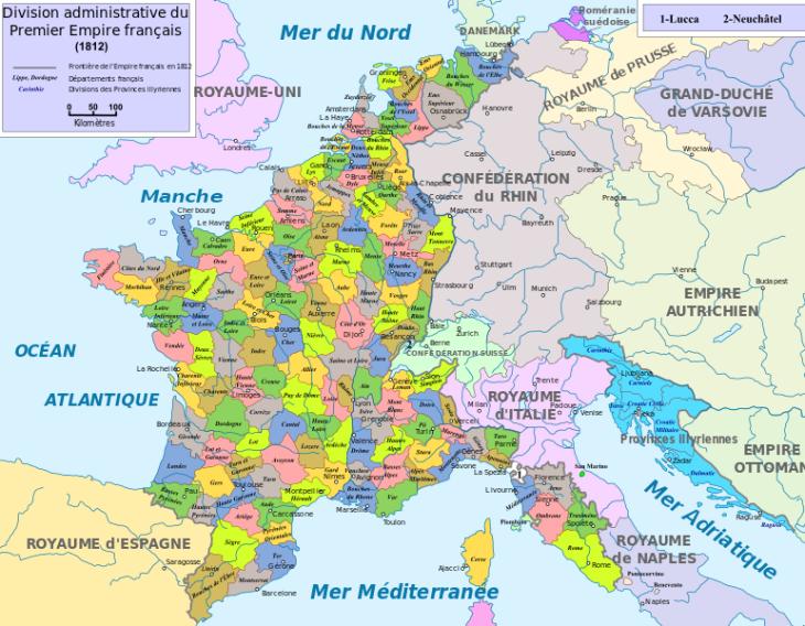 Départements français du Premier Empire
